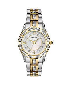 Bulova Ladies' Two Tone Crystal Watch
