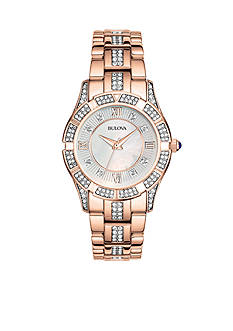 Bulova Women's Rose Gold Crystal Watch