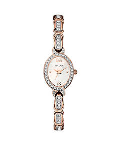 Bulova Women's Rose Gold Bangle Bracelet Watch