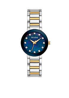 Bulova Women's Two-Tone Diamond Accent Watch