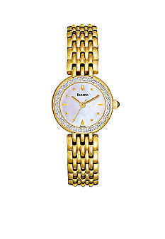 Bulova Ladies' Gold Diamond Watch
