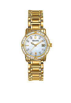 Bulova Ladies' Diamond Case Bracelet Watch