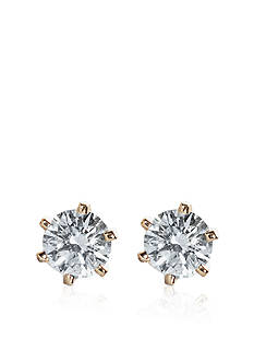 Belk & Co. 1/3 ct. t.w. Diamond Solitaire Earrings in 14k Yellow Gold