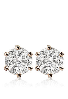 Belk & Co. 1/2-ct. t.w. Diamond Solitaire Earrings