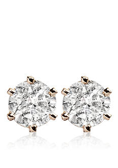 Belk & Co. 3/4 ct. t.w. Diamond Solitaire Earrings in 14k Yellow Gold