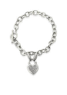 Belk & Co. Diamond Heart Bracelet in Sterling Silver