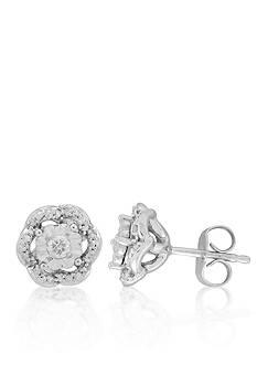Belk & Co. Diamond Earrings in 10k White Gold