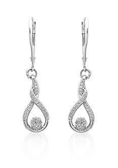 Belk & Co. Diamond Dangle Earrings in Sterling Silver