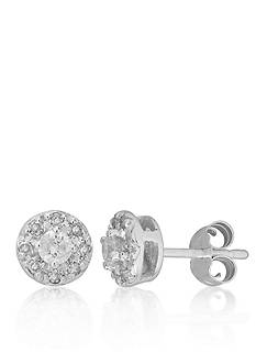 Belk & Co. Diamond Halo Earring in 14k White Gold