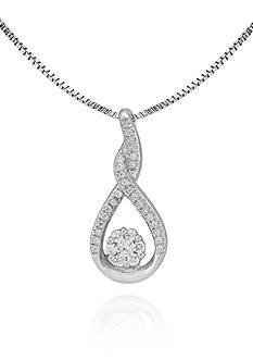 Belk & Co. Diamond Pendant in Sterling Silver