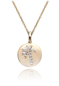 Belk & Co. Diamond Palm Tree Disc Pendant in 10k Gold