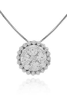 Belk & Co. Diamond Halo Pendant in 14k White Gold