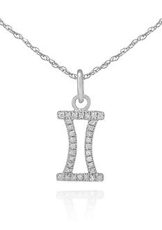 Belk & Co. Diamond Gemini Pendant in 10k White Gold
