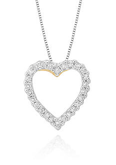 Belk & Co. Diamond Heart Pendant in 14k White Gold
