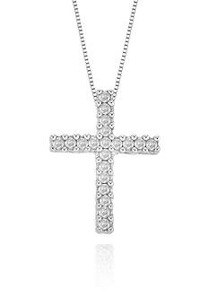 Belk & Co. Diamond Cross Pendant in 14k White Gold