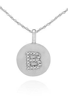 Belk & Co. Diamond Accent B Pendant in 14k White Gold