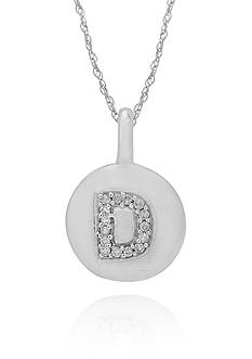 Belk & Co. Diamond Accent D Pendant in 14k White Gold