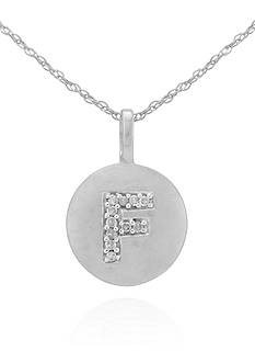 Belk & Co. Diamond Accent F Pendant in 14k White Gold