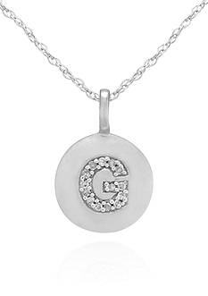 Belk & Co. Diamond Accent G Pendant in 14k White Gold