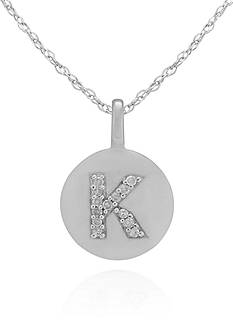 Belk & Co. Diamond Accent K Pendant in 14k White Gold