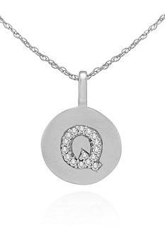 Belk & Co. Diamond Accent Q Pendant in 14k White Gold