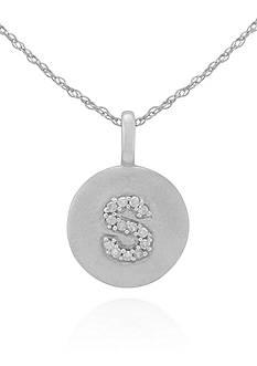 Belk & Co. Diamond Accent S Pendant in 14k White Gold