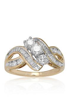 Belk & Co. Diamond Ring in 14k Yellow Gold