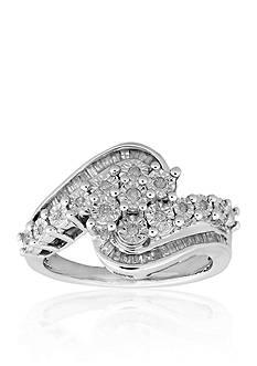 Belk & Co. Diamonds Swirls Ring in Sterling Silver