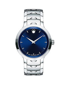 Movado Men's Luno Stainless Steel Blue Dial Watch
