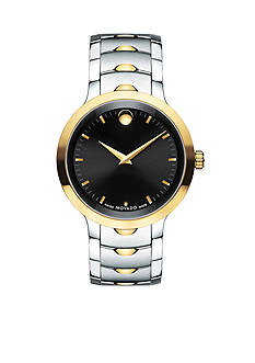 Movado Men's Luno Two-Tone Black Dial Watch