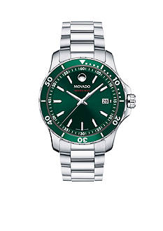 Movado Men's Series 800 Stainless Steel Green Dial Watch