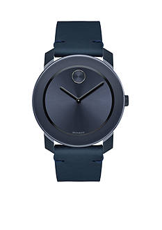 Movado Men's Bold TR90 Blue Leather Watch