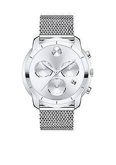 Movado Bold Silver-Tone Stainless Steel Watch