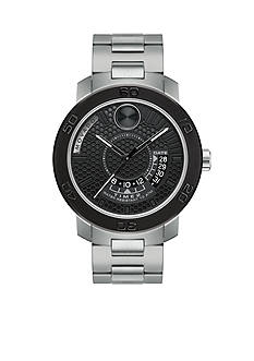 Movado Men's Bold Stainless Steel Black Dial Watch