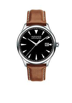 Movado Men's Heritage Series Caledoplan Brown Leather Watch