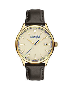 Movado Men's Heritage Series Calendoplan Gold Dial Watch
