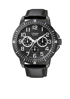 Citizen EDV Men's Black Ion Plated Day-Date Watch