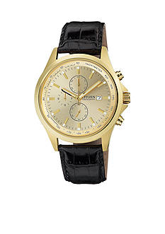 Citizen EDV Men's Stainless Steel and Gold Quartz Watch