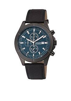 Citizen EDV Men's Stainless Steel Black Quartz Chronograph Watch