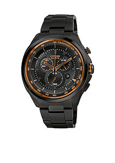 Citizen Men's WDR Grey IP Chronograph Bracelet Watch