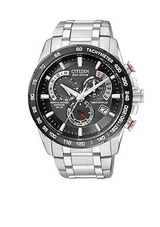 Citizen Eco-Drive Stainless Steel Perpetual Chrono AT Watch