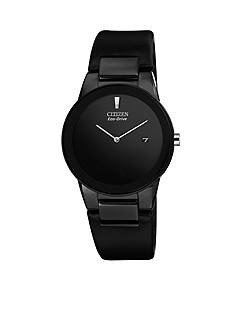 Citizen Eco-Drive Men's Axiom Black Leather Strap Watch
