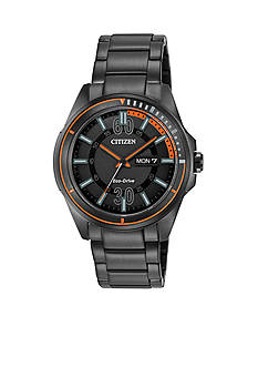 Citizen Men's Black Ion Plated Stainless Steel Bracelet Watch