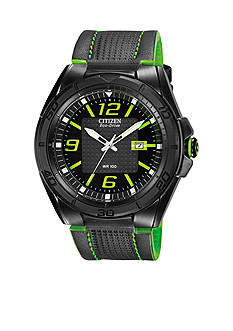 Citizen Men's Black Ion Plated Stainless Steel Strap Watch