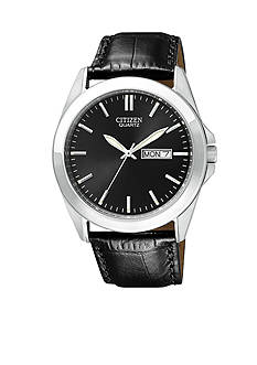 Citizen EDV Men's Stainless Steel Leather Strap Watch