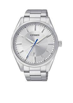 Citizen Men's Quartz Silver-Tone Stainless Steel Three Hand Basic Watch