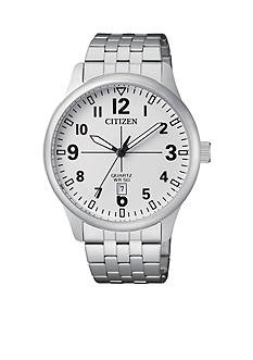 Citizen Men's Silver-Tone Quartz Watch
