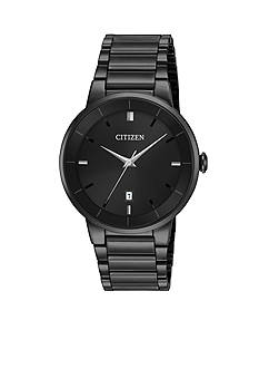 Citizen Men's Black-Tone Stainless Steel Quartz Watch