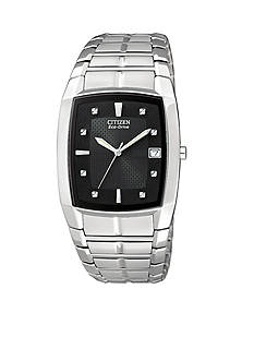 Citizen Eco-Drive Men's Black Crystal Watch