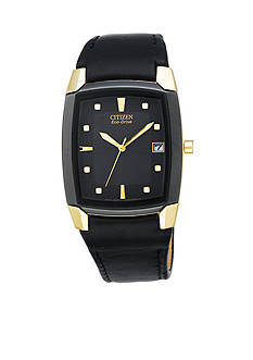 Citizen Eco-Drive Men's Black Crystal Strap Watch
